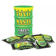 Toxic Waste Green Sour Candy Drum